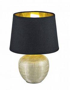 Reality, Lampe de table, Luxor 1xE14, max.40,0 W Tissu, Multicouleur, Corps: Céramique, or Ø:18,0cm, H:26,0cm IP20,Interrupteur de cordon de la marque Reality image 0 produit