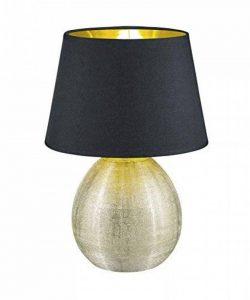 Reality, Lampe de table, Luxor 1xE27, max.60,0 W Tissu, Multicouleur, Corps: Céramique, or Ø:24,0cm, H:35,0cm IP20,Interrupteur de cordon de la marque Reality image 0 produit