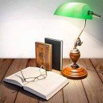 Relaxdays-10016607 Lampe de Bureau Banquier avec Abat-Jour en Verre Vert de la marque Relaxdays image 1 produit