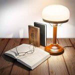 Relaxdays-10016611 Lampe de Bureau Banquier avec Abat-Jour en Verre E 27, beige de la marque Relaxdays image 1 produit
