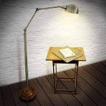 Relaxdays-10018505 Lampe sur pied Lampadaire Design Industriel Métal/Bois 179 cm hauteur réglable métal bois de la marque Relaxdays image 1 produit