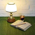 Relaxdays 10018911 Luminaire Déco petite Lampe de Table Abat-Jour en Verre Blanc Socle en Bois Véritable HxlxP: 37 x 30 x 20,5 cm style ancien vintage de la marque Relaxdays image 1 produit