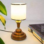 Relaxdays 10018913 Lampe de table/Lampe de chevet avec verre opale bois en aspect acajou Luminaire de la marque Relaxdays image 1 produit