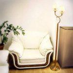 Relaxdays Lampadaire Lampe sur pied 2 abat-jour avec aspect cuivré pour la salle de séjour de la marque Relaxdays image 1 produit