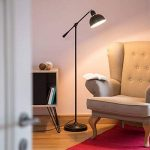 Relaxdays Lampadaire réglable GALANDO lampe sur pied orientable rétro HxlxP: 156 x 72 x 25 cm lampe de lecture salon métal design vintage, noir de la marque Relaxdays image 1 produit