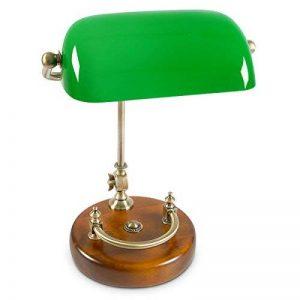 Relaxdays Lampe de banquier bureau table abat-jour vert en verre ampoule à douille E-27 notaire bibliothèque, vert de la marque Relaxdays image 0 produit
