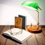 Relaxdays Lampe de banquier bureau table abat-jour vert en verre ampoule à douille E-27 notaire bibliothèque, vert de la marque Relaxdays image 1 produit