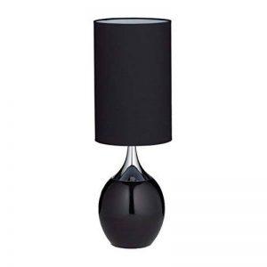 Relaxdays Lampe de chevet forme ovale REEVA lampe de table chambre salon bureau grand abat-jour tissu HxlxP: 67 x 23 x 23 cm, noir de la marque Relaxdays image 0 produit