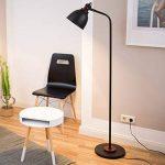 Relaxdays Lampe sur pied GLOCCA H x l x P 156 x 30 x 50 cm lampadaire en métal et en bois abat-jour en forme de cloche 1 ampoule, noir de la marque Relaxdays image 1 produit