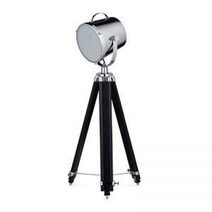 Relaxdays Lampe sur pied MOVIESTAR projecteur style studio photo film tripod HxlxP: 167 x 67 x 67 cm hauteur réglable, argent-noir de la marque Relaxdays image 0 produit