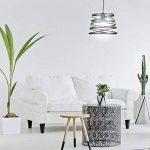 Relaxdays Lampe à suspension fils spirale design look moderne blanc ou noir lampe de plafond, noir de la marque Relaxdays image 1 produit