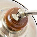 Relaxdays Luminaire lampadaire Design Art Nouveau lampe sur pied abat-jour fer optique laiton avec Hauteur Réglable socle en Bois Massif style industriel de la marque Relaxdays image 4 produit