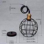 Retro Métal Suspensions Luminaire Cage Edison Culot de Ampoule E27 Antique Plafonnier Lustre Luminaire Vintage Pendentif éclairage Forme de Sphère Suspensions Cage de la marque Chrasy image 1 produit