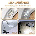 Rightwell 2 X 6X Lampe loupe de Table de Métal flexible avec Clamp et 2 LEDs pour la lecture, la réparation, le hobby et l'artisanat de la marque Rightwell image 2 produit