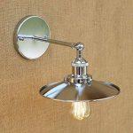 Rishx LED lumière d'escalier rétro Edison Vintage applique murale lampe de mur en métal à bras articulé réglable Loft argenté mur industriel lumières pour l'éclairage de la maison E27 110~240V de la marque Rishx-lamp image 3 produit