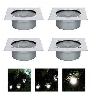 RMAN 4 Lumières Enterrées Spots Encastrables LED Étanche Lumière Noël Décoratifs Lampe Pour Extérieur Terrasse Jardin Sensible Lampe Solaire Detecte de la marque RMAN-Lighting image 0 produit