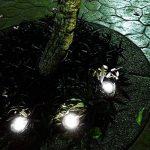RMAN 4 Lumières Enterrées Spots Encastrables LED Étanche Lumière Noël Décoratifs Lampe Pour Extérieur Terrasse Jardin Sensible Lampe Solaire Detecte de la marque RMAN-Lighting image 3 produit