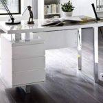 Robas Lund, Bureau, Table, Sydney, Blanc Brillant/blanc/ chromé, 115 x 60 x 76 cm, 40124W4 de la marque Robas Lund image 2 produit
