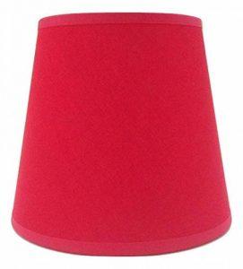Rouge Petite bougie à clipser Abat-jour Lustre Plafonnier Applique murale Abat-jour fait main Tissu de coton de la marque ArG Lighting image 0 produit