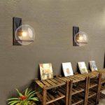Rétro Créatif Fer Verre Luminaire Applique Murale Industriel Style Minimaliste Design couloir Lampe Murale pour pour Décoration de Maison Bar Cuisine salon Restaurants Café Club Appliques E27 Ampoule de la marque GUOQ image 3 produit