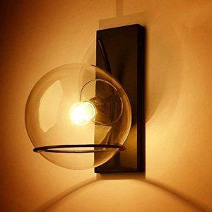 Rétro Créatif Fer Verre Luminaire Applique Murale Industriel Style Minimaliste Design couloir Lampe Murale pour pour Décoration de Maison Bar Cuisine salon Restaurants Café Club Appliques E27 Ampoule de la marque GUOQ image 0 produit