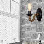 Rétro Industriel Rustique Luminaire Applique Murale en CordeÉclairage Vintage Edison Lampe Douille E27 pour pour Décoration de Maison Bar Restaurants Café Club (110-220V, ampoule non compris) de la marque Folowish image 2 produit