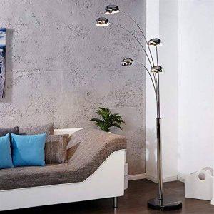 """Rétro Lampe sur pied """"FINGERS""""   argent, avec pied noir   lounge lampadaire de la marque DESIGN DELIGHTS image 0 produit"""