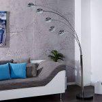 """Rétro Lampe sur pied """"FINGERS""""   argent, avec pied noir   lounge lampadaire de la marque DESIGN DELIGHTS image 1 produit"""
