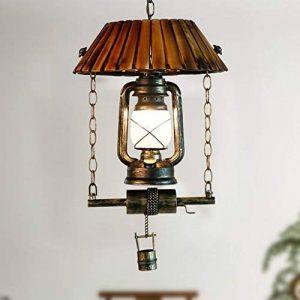 Rétro Vintage Cheval Huile Pendentif Lumière Rustique Style Industriel Vent Rétro Bois Lustres E27 Lumière Lampe Fixture de la marque L&W image 0 produit