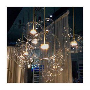 RUOQI Nordique Restaurant Bulle Boule LED Lustre Bar Fenêtre Galerie Salon Lampe Creative Verre Haricot Magique Lustre Moléculaire de la marque RUOQI image 0 produit