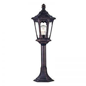 Réverbère exterieur, lanterne, 1 lampe, lampadaire, style rustique, classique, vintage armature en Metal couleur noir, plafonnier en verre, pour le jardin, pour la rue, 1 ampoule E27 60 W IP44 220V de la marque MAYTONI DECORATIVE LIGHTING image 0 produit