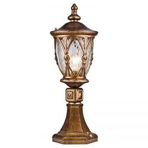 Réverbère exterieur, lanterne, 1 lampe, lampadaire, style rustique, classique, vintage, armature en Metal couleur or, plafonnier en verre, pour le jardin, pour la rue, 1 ampoule E27 60 W IP44 220V de la marque MAYTONI DECORATIVE LIGHTING image 0 produit