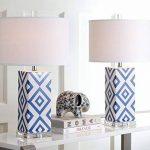Safavieh EUL4135A-SET2 Vivian Lot de 2 Lampes de Table 13 W E27 Marine Bleu 38 x 38 x 68,58 cm de la marque Safavieh image 4 produit