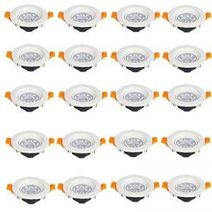 SAILUN 20 x 3W LED Blanc chaud Projecteurs encastrés Lampe de Encastrable LED Spot plafonnier Spot Encastrable,AC 85-265V de la marque SAILUN image 0 produit