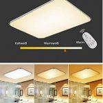 SAILUN 48W Carré Ultra Mince LED Plafonnier Réglable Plafonnier Lampe Lumière de Plafond Moderne Applique Murale Lumière ( (Argent Réglable) de la marque SAILUN image 1 produit