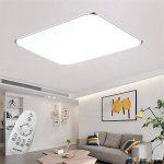SAILUN 48W Carré Ultra Mince LED Plafonnier Réglable Plafonnier Lampe Lumière de Plafond Moderne Applique Murale Lumière ( (Argent Réglable) de la marque SAILUN image 3 produit