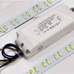 SAILUN 48W Carré Ultra Mince LED Plafonnier Réglable Plafonnier Lampe Lumière de Plafond Moderne Applique Murale Lumière ( (Argent Réglable) de la marque SAILUN image 4 produit