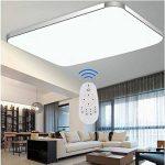 SAILUN 48W LED Régulable Plafonnier Lampe Moderne Lampe de Plafond pour salon, Cuisine, chambre à coucher, Hôtel - Argenté de la marque SAILUN image 2 produit