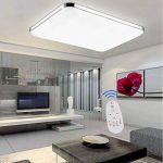 SAILUN 48W LED Régulable Plafonnier Lampe Moderne Lampe de Plafond pour salon, Cuisine, chambre à coucher, Hôtel - Argenté de la marque SAILUN image 3 produit