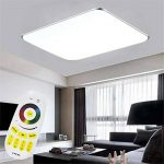 SAILUN 48W RGB Ultraplat LED Plafonnier moderne Lampe de couloir Cuisine de chambre à coucher Économie d'énergie lumière applique murale Couleur Argent (48W Argent RGB) de la marque SAILUN image 1 produit