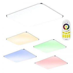 SAILUN 48W RGB Ultraplat LED Plafonnier moderne Lampe de couloir Cuisine de chambre à coucher Économie d'énergie lumière applique murale Couleur Argent (48W Argent RGB) de la marque SAILUN image 0 produit