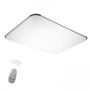 SAILUN 48W Ultra mince LED Régulable Plafonnier Lampe Moderne Lampe de Plafond pour salon, Cuisine, chambre à coucher, Salle de bain, Hôtel - Argenté de la marque SAILUN image 0 produit