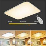 SAILUN 48W Ultra mince LED Régulable Plafonnier Lampe Moderne Lampe de Plafond pour salon, Cuisine, chambre à coucher, Salle de bain, Hôtel - Argenté de la marque SAILUN image 4 produit