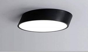 Saint Mossi 18W (remplace 100W) Led plafonnier 1100 lumens, blanc chaud (3000K), hauteur 10.5cm, diamètre 40cm, coupe cylindriakal design acrylique diffusion abat-jour au salon, salle de bain de la marque Saint Mossi image 0 produit