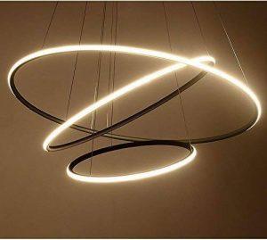 Saint Mossi Design exclusif Circulaire moderne Led Lustre Suspension réglable Lumière Tania Trio Collection Plafonnier contemporain plafond Luminaire bureau salle à manger chambre à coucher de la marque Saint Mossi image 0 produit