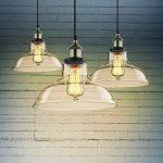 Saint Mossi Lustre Edison Vintage style 1-lumière pendentif en verre ombre suspension plafonnier lumière 1 E27 bulbe obligatoire Te plafond Luminaire bureau salle à manger chambre à coucher Salon de la marque Saint Mossi image 1 produit