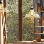 Saint Mossi Lustre Edison Vintage style 1-lumière pendentif en verre ombre suspension plafonnier lumière 1 E27 bulbe obligatoire Te plafond Luminaire bureau salle à manger chambre à coucher Salon de la marque Saint Mossi image 2 produit