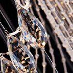 Saint Mossi Lustre en cristal moderne Gouttelette Lustre Éclairage LED Plafonnier Plafond Luminaire Suspension Luminaire pour Salle à Manger Salle De Bains Chambre Salon 7 GU10 60 x 60 x 180 cm de la marque Saint Mossi image 2 produit