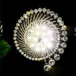 Saint Mossi Lustre en cristal moderne Gouttelette Lustre Éclairage LED Plafonnier Plafond Luminaire Suspension Luminaire pour Salle à Manger Salle De Bains Chambre Salon 7 GU10 60 x 60 x 180 cm de la marque Saint Mossi image 4 produit