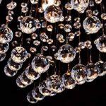 Saint Mossi Moderne Design K9 Cristal Gouttelette Lustre Éclairage LED Plafonnier Plafond Luminaire Suspension Luminaire pour Salle à Manger Salle De Bains Chambre Salon 5 GU10 40 x 45 x 40 cm de la marque Saint Mossi image 3 produit
